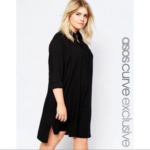 ad0ad7de7 Asos Curve shirt dress